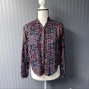 Women's Abercrombie printed blouse top xs